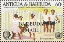 [International Youth Year - Issues of 1985 of Antigua & Barbuda Overprinted
