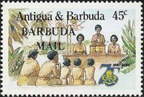[The 75th Anniversary of the Girl Guide Movement - Issues of 1985 of Antigua & Barbuda Overprinted
