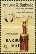 [The 300th Anniversary of the Birth of Johann Sebastian Bach, Composer, 1685-1750 - Issues of 1985 of Antigua & Barbuda Overprinted