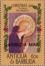[Christmas - Religious Paintings - Issues of 1985 of Antigua & Barbuda Overprinted