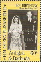 [The 60th Anniversary of the Birth of Queen Elizabeth II - Issues of 1986 of Antigua & Barbuda Overprinted
