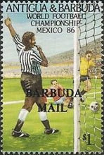 [Football World Cup - Mexico - Issues of 1986 of Antigua & Barbuda Overprinted