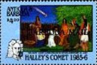 [Appearance of Halley's Comet - Issues of 1986 of Antigua & Barbuda Overprinted