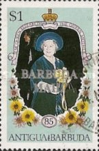 [The 85th Anniversary of the Birth of Queen Elizabeth the Queen Mother, 1900-2002 - Issues of 1985 of Antigua & Barbuda Overprinted