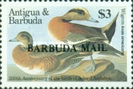 [Birds - The 200th Anniversary of the Birth of John J. Audubon, 1785-1851  - Issues of 1986 of Antigua & Barbuda Overprinted