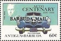 [The 100th Anniversary of the First Benz Motor Car - Issues of 1986 of Antigua & Barbuda Overprinted