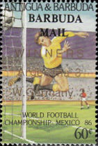 [Winners of Football World Cup in Mexico - Issues of 1986 of Antigua & Barbuda Overprinted