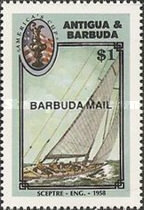 [America's Cup Yachting Championship - Issues of 1987 of Antigua & Barbuda Overprinted