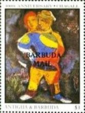 [The 100th Anniversary of the Birth of Marc Chagall, Artist, 1887-1985 - Issues of 1987 of Antigua & Barbuda Overprinted
