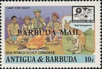 [The 16th World Scout Jamboree, Australia - Issues of 1987 of Antigua & Barbuda Overprinted
