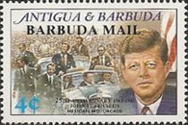 [The 25th Anniversary of the Death of John F. Kennedy, American Statesman, 1917-1963 - Issues of 1988 of Antigua & Barbuda Overprinted