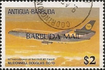 [The 50th Anniversary of First Jet Flight - Issues of 1989 of Antigua & Barbuda Overprinted