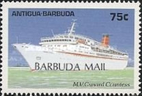 [Caribbean Cruise Ships - Issues of 1989 of Antigua & Barbuda Overprinted