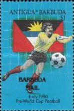 [Football World Cup - Italy 1990 - Issues of 1989 of Antigua & Barbuda Overprinted