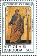 [Christmas - Paintings by Raphael and Giotto - Issues of 1989 of Antigua & Barbuda Overprinted