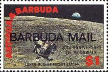 [The 20th Anniversary of First Manned Landing on Moon - Issues of 1989 of Antigua & Barbuda Overprinted