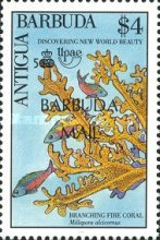 [The 500th Anniversary of Discovery of America by Columbus - Marine Life - Issues of 1990 of Antigua & Barbuda Overprinted
