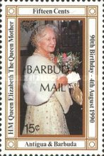 [The 100th Anniversary of the Birth of Queen Elizabeth the Queen Mother, 1900-2002 - Issues of 1990 of Antigua & Barbuda Overprinted
