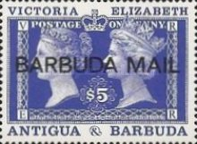 [The 150th Anniversary of the Penny Black - Issues of 1990 of Antigua & Barbuda Overprinted