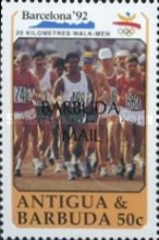 [Olympic Games - Barcelona, Spain 1992 - Issues of 1990 of Antigua & Barbuda Overprinted