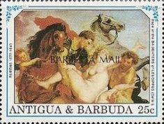 [The 350th Anniversary of the Death of Peter Paul Rubens, Artist, 1577-1640 - Issues of 1991 of Antigua & Barbuda Overprinted