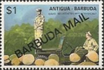 [The 50th Anniversary of Second World War - Issues of 1991 of Antigua & Barbuda Overprinted
