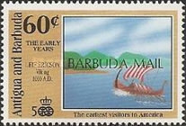 [The 500th Anniversary of Discovery of America by Columbus - Discovery Voyages - Issues of 1991 of Antigua & Barbuda Overprinted