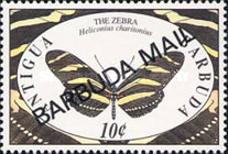 [Butterflies - Issues of 1991 of Antigua & Barbuda Overprinted
