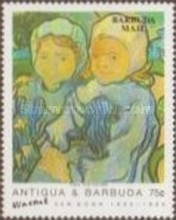 [The 100th Anniversary of the Death of Vincent van Gogh, Artist, 1853-1890 - Issues of 1991 of Antigua & Barbuda Overprinted