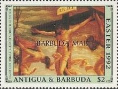 [Easter - Paintings - Issues of 1992 of Antigua & Barbuda Overprinted