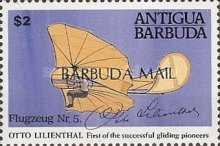 [The 100th Anniversary of Otto Lilienthal's Gliding Experiments - Issue of 1991 of Antigua & Barbuda Overprinted