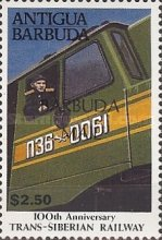 [The 100th Anniversary of Trans-Siberian Railway - Issue of 1991 of Antigua & Barbuda Overprinted