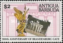 [The 200th Anniversary of Brandenburg Gate, Germany - Issues of 1991 of Antigua & Barbuda Overprinted