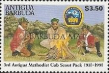 [International Scout Meeting - South Korea - Issues of 1991 of Antigua & Barbuda Overprinted