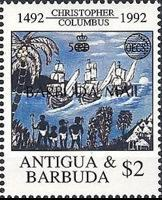[Organization of East Caribbean States - The 500th Anniversary of the Discovery of America - Issues of 1992 of Antigua & Barbuda Overprinted