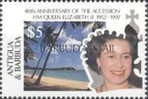 [The 40th Anniversary of the Acession of Queen Elizabeth II - Issues of 1992 of Antigua & Barbuda Overprinted