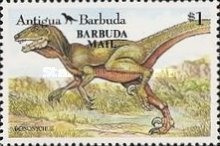 [Prehistoric Animals - Issues of 1992 of Antigua & Barbuda Overprinted
