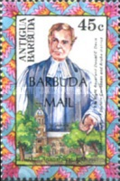 [The 150th Anniversary of the Anglican Diocese of the Northeastern Caribbean and Aruba - Issue of 1992 of Antigua & Barbuda Overprinted