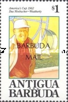 [Americas Cup Yachting Championship - Issue of 1992 of Antigua & Barbuda Overprinted