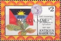 [The 50th Anniversary of Inter-American Institute for Agricultural Co-operation - Issue of 1992 of Antigua & Barbuda Overprinted