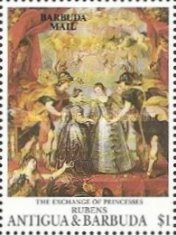 [The 200th Anniversary of the Louvre, Paris - Paintings by Peter Paul Rubens - Issues of 1993 of Antigua & Barbuda Overprinted