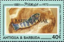 [The 20th Anniversary of the Death of Pablo Picasso, Artist, 1881-1973 - Issues of 1993 of Antigua & Barbuda Overprinted