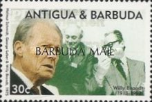 [The 80th Anniversary of the Birth of Willy Brandt, German Politician, 1913-1992 - Issues of 1993 of Antigua & Barbuda Overprinted