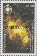 [The 450th Anniversary of the Death of Copernicus, Astronomer, 1473-1543 - Issues of 1993 of Antigua & Barbuda Overprinted