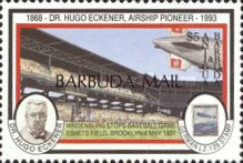 [The 125th Anniversary of the Birth of Hugo Eckener, Airship Commander, 1868-1954 - Issues of 1993 of Antigua & Barbuda Overprinted