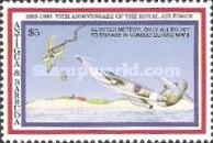 [The 75th Anniversary of Royal Air Force - Issues of 1993 of Antigua & Barbuda Overprinted