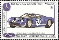 [The 100th Anniversary of Henry Ford's First Petrol Engine and the 100th Anniversary of Karl Benz's First Four-wheeled Car - Issues of 1993 of Antigua & Barbuda Overprinted