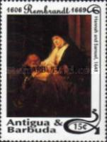 [The 325th Anniversary of the Death of Rembrandt, 1606-1669 - Issues of 1993 of Antigua & Barbuda Overprinted