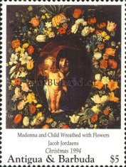 [Christmas - Madonna Illustrations on Paintings of the 15th and 16th Century - Issues of 1994 of Antigua & Barbuda Overprinted