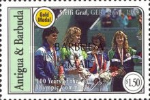 [The 100th Anniversary of International Olympic Committee - Issues of 1994 of Antigua & Barbuda Overprinted